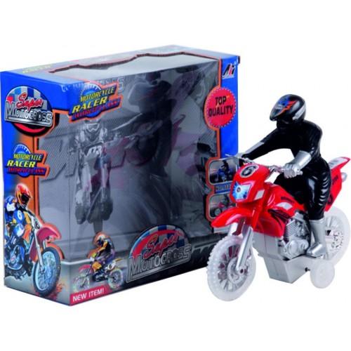 MOTO RACER FRICCION LUZ Y SONIDO CAJA