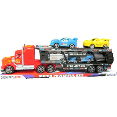 TRACTROMULA AING CON CARROS FRICCION BASE Y TAPA